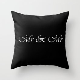 Mr & Mr Monogram Cursive Throw Pillow
