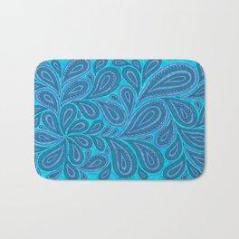 Blue and Blue Bath Mat