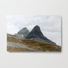 We Stand Together (Two Mountains, Norway) Metal Print