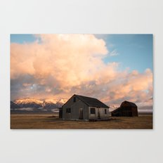 Sunrise at an Abandoned Farm Canvas Print