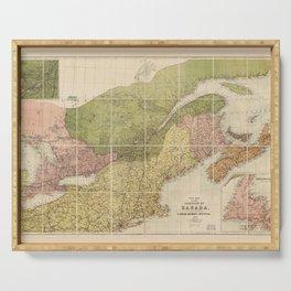 Map of Canada by John Bartholomew (1870) Serving Tray