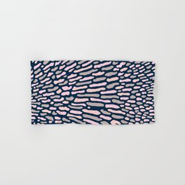 Organic Abstract Navy Blue Hand & Bath Towel