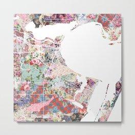 Corpus Christi map Metal Print