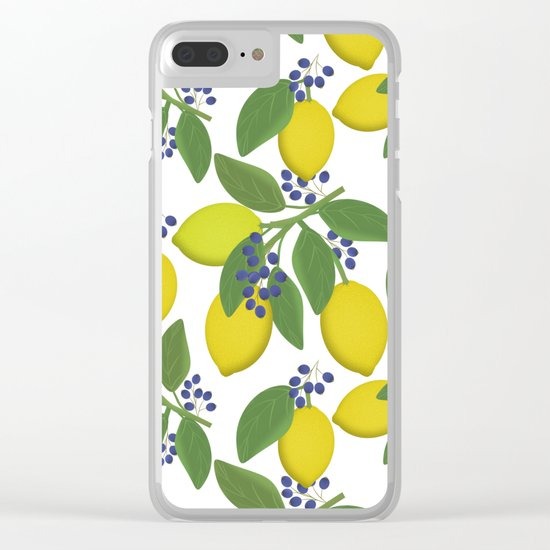 Sprigs of lemon . Clear iPhone Case