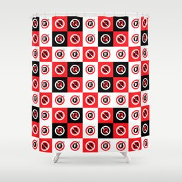 F-Bombs Prohibited, No F-bombs by Dennis Weber of ShreddyStudio Shower Curtain