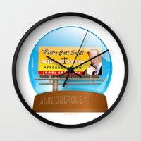 better call saul Wall Clocks featuring Better Call Saul! by tuditees
