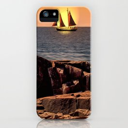 Sailing In Grand Marais iPhone Case