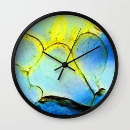 Water Cells with stones Wall Clock