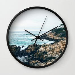 Standing on the Coast Wall Clock