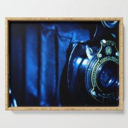 Capturing Yesteryear a vintage Kodak folding camera photograph Serving Tray