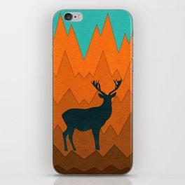 Deer silhouette in autumn iPhone Skin