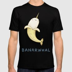 Banarwhal Black Mens Fitted Tee 2X-LARGE