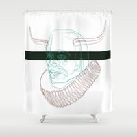human Shower Curtains featuring human by ferlandes