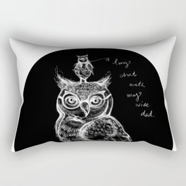 A long chat with my wise dad. By Sarah Clement Rectangular Pillow