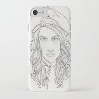 allison argent iPhone & iPod Cases featuring Allison by Wolfhearted