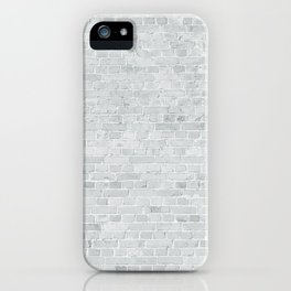 White Washed Brick Wall Stone Cladding iPhone Case