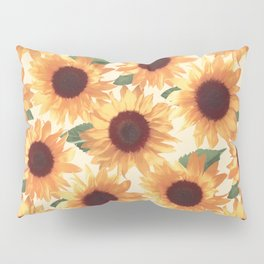 Happy Orange Sunflowers Pillow Sham