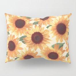 Happy Orange Sunflowers Pillow Sham