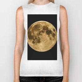 Full moon during night time Biker Tank