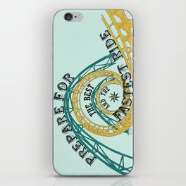 prepare for the best and the fastest ride iPhone Skin