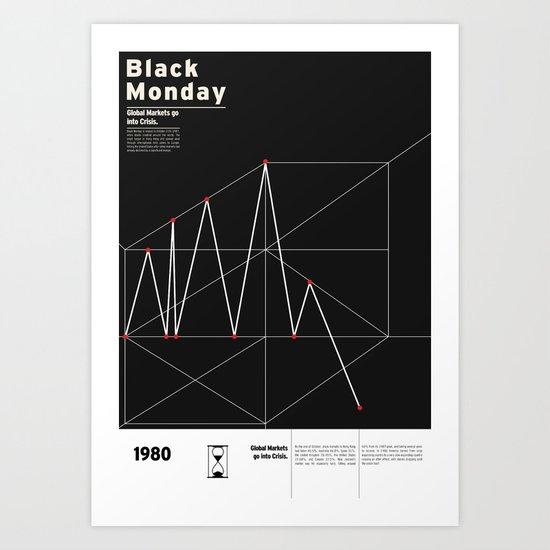 Black Monday Art Print