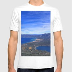 South Lake Tahoe White Mens Fitted Tee MEDIUM