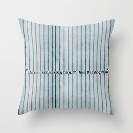 Where the light emerges Throw Pillow
