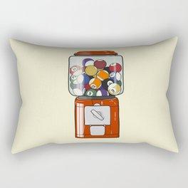 Billiard Gumball Machine Rectangular Pillow