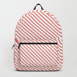 Peach Echo Stripe Backpack