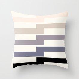 Grey Taupe Lightning Bolt Zig Zag Geometric Pattern Minimalist Zen Art Throw Pillow