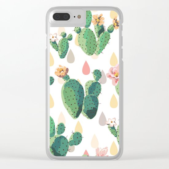 Cactus Drops Clear iPhone Case