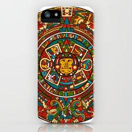 Aztec Mythology Calendar iPhone Case