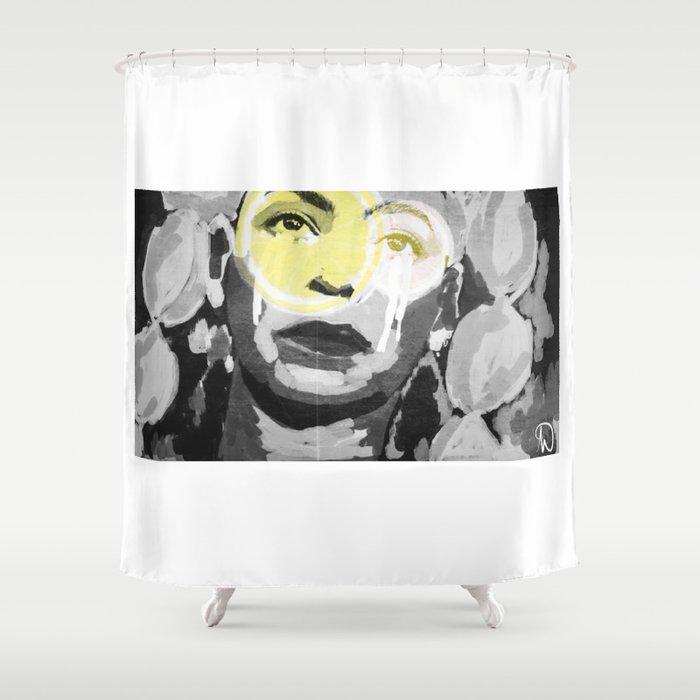B E Y O N C L M A D Shower Curtain