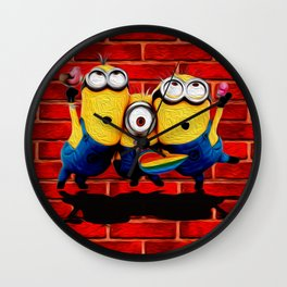Minion Wallpaper Wall Clock