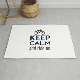 Keep Calm And Ride On (blue) Rug