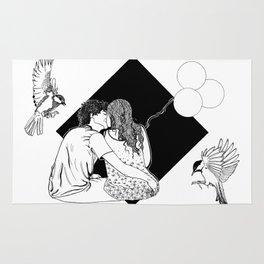 Hate for love - Ink artwork Rug