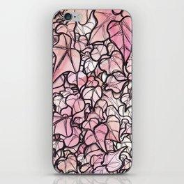 pink leaf iPhone Skin