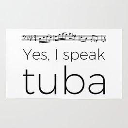 I speak tuba Rug