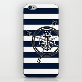Navy Striped Nautica iPhone Skin