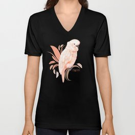 Moluccan Cockatoo Unisex V-Neck