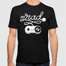 Super Rad Mens Fitted Tee Tri-Black MEDIUM