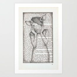 Pig Girl  Art Print