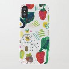 strawberries iPhone X Slim Case