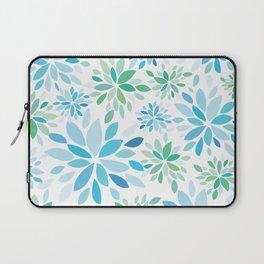 Nature's Healing Mandala Blue Laptop Sleeve