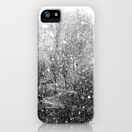Snow in early fall(3) iPhone Case