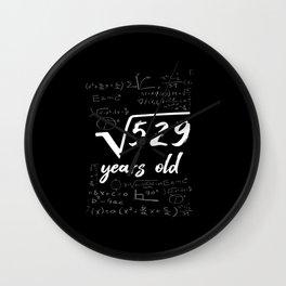 23rd Birthday Geek Funny Wall Clock