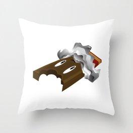 Chocolate Bar - Bite Throw Pillow