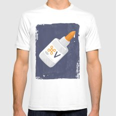 Command Paste White Mens Fitted Tee MEDIUM