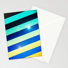 Striped Colorful Glitter Stationery Cards