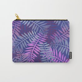 Violet pink palm leaves pattern Design #leaves Carry-All Pouch